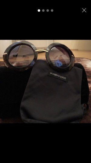 Dolce & Gabbana Round Sunglasses black brown