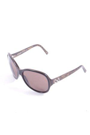 Dolce & Gabbana Sonnenbrille braun-schwarz Street-Fashion-Look