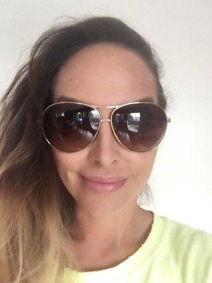 Dolce Gabbana Sonnenbrille braune Gläser goldener Rahmen