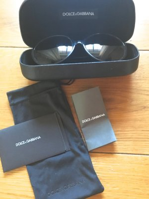 Dolce & Gabbana Oval Sunglasses black synthetic material