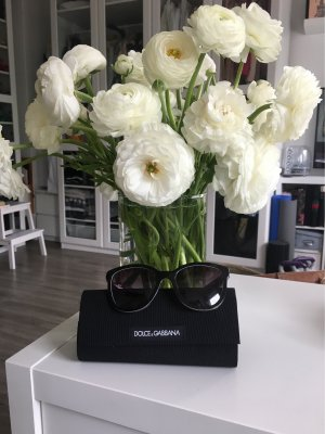 Dolce & Gabbana Retro Glasses black synthetic material