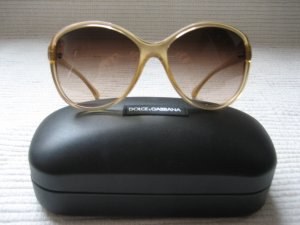 Dolce & Gabbana Sunglasses sand brown-gold-colored synthetic material