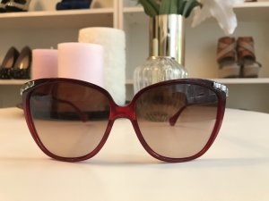 Dolce & Gabbana Butterfly Glasses dark red-silver-colored