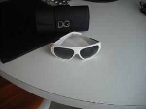 Dolce&Gabbana Sonnenbrille Original Kunststoff Oversize weiß/schwarz neuw.Box