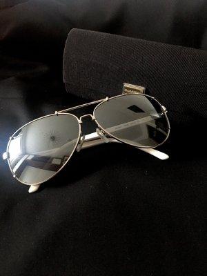 Dolce & Gabbana Lunettes aviateur blanc-argenté
