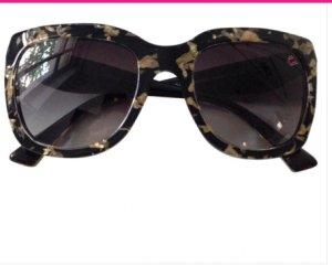 DOLCE & GABBANA Sonnenbrillen Kunststoff Schwarz Beige Gold