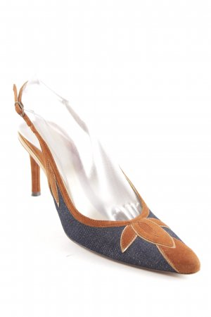 Dolce & Gabbana Spitz-Pumps braun-dunkelblau Elegant