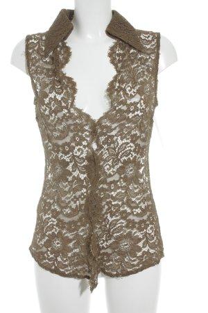 Dolce & Gabbana Spitzenbluse olivgrün Elegant