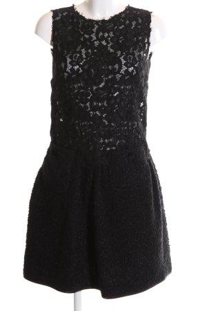 Dolce & Gabbana Spitzenkleid schwarz Casual-Look