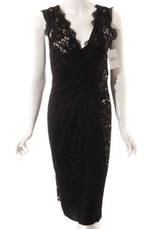 Dolce & Gabbana Spitzenkleid schwarz Elegant
