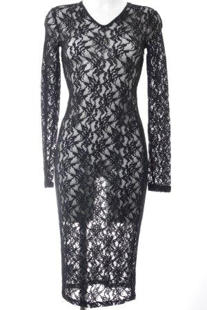 Dolce & Gabbana Spitzenkleid schwarz Transparenz-Optik