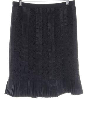 Dolce & Gabbana Jupe en dentelle noir style d'affaires