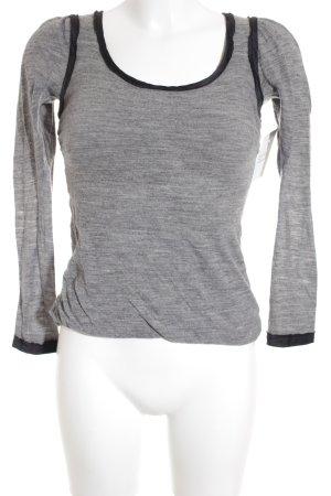 Dolce & Gabbana Sportshirt grau-schwarz meliert schlichter Stil