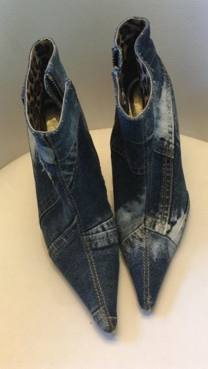 Dolce & Gabbana Botas con cremallera azul acero Algodón