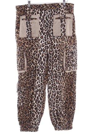 Dolce & Gabbana Stoffhose dunkelbraun-hellbraun Leomuster extravaganter Stil