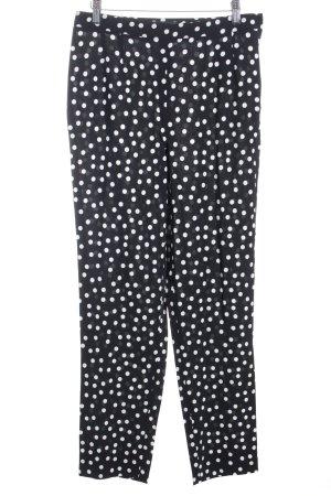 Dolce & Gabbana Stoffhose schwarz-weiß Punktemuster extravaganter Stil