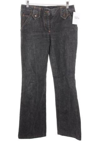 Dolce & Gabbana Straight-Leg Jeans anthrazit Schnallenelemente