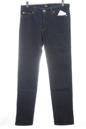 Dolce & Gabbana Straight-Leg Jeans dunkelblau Jeans-Optik