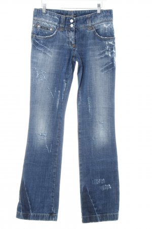 Dolce & Gabbana Straight-Leg Jeans mehrfarbig Used-Optik