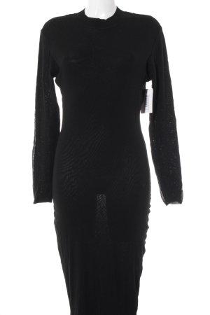 Dolce & Gabbana Stretchkleid schwarz Elegant