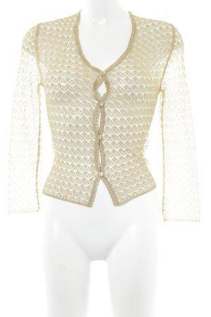 Dolce & Gabbana Strickjacke goldfarben-himmelblau Casual-Look