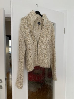 Dolce & Gabbana Coarse Knitted Jacket cream-gold-colored