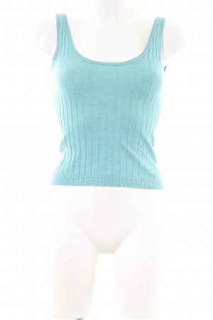Dolce & Gabbana Knitted Top turquoise cable stitch casual look