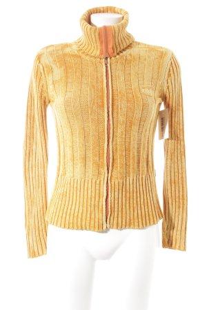 Dolce & Gabbana Cache-cœur en tricot orange-jaune Broderie de logo