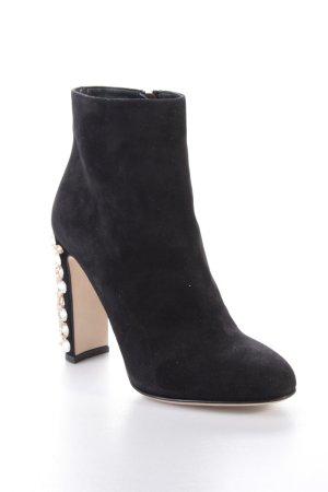 Dolce & Gabbana Suede Ankle Boots schwarz