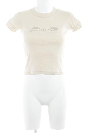 Dolce & Gabbana T-Shirt cream casual look