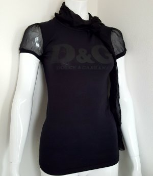 Dolce & Gabbana ,T-shirt, mit integriertem Chiffon Schal