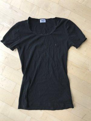 Dolce & Gabbana T-Shirt Rippstruktur schwarz 34