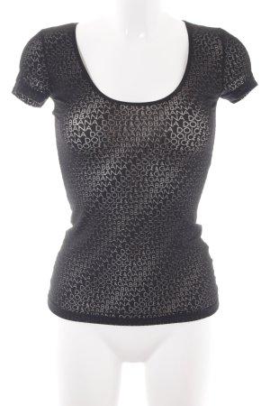 Dolce & Gabbana T-Shirt schwarz Schriftzug gestickt Transparenz-Optik