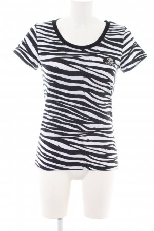 Dolce & Gabbana T-Shirt schwarz-weiß Animalmuster Casual-Look