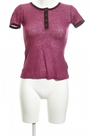 Dolce & Gabbana T-Shirt violet flower pattern transparent look