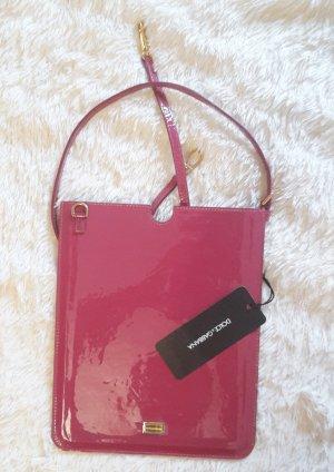 Dolce & Gabbana borsa ventiquattrore rosso lampone