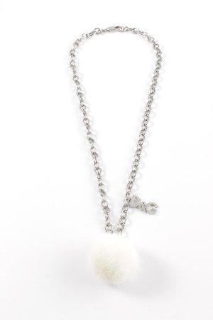 Dolce & Gabbana Cinturón pélvico color plata look efecto mojado