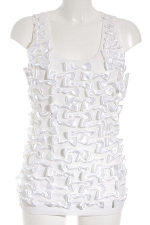Dolce & Gabbana Tanktop weiß-wollweiß Romantik-Look