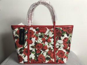 Dolce & Gabbana Tasche weiß mit Blumen NEU