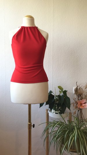 Dolce & Gabbana Cut Out Top brick red polyester