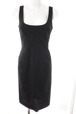 Dolce & Gabbana Vestido tipo overol negro elegante