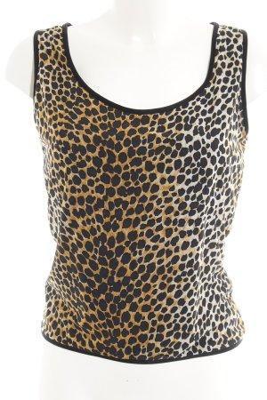 Dolce & Gabbana Top de tirantes marrón arena-negro estampado de leopardo
