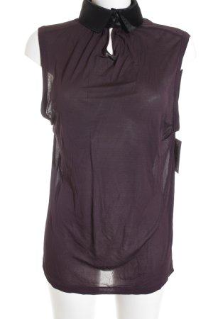 Dolce & Gabbana Trägertop schwarz-purpur schlichter Stil
