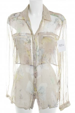 Dolce & Gabbana Transparenz-Bluse abstraktes Muster Street-Fashion-Look