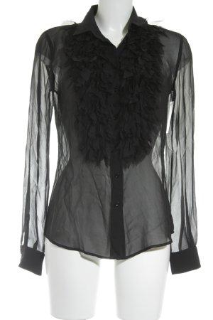 Dolce & Gabbana Transparenz-Bluse schwarz minimalistischer Stil