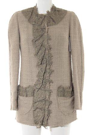 Dolce & Gabbana Tweed blazer beige-oker Webpatroon extravagante stijl
