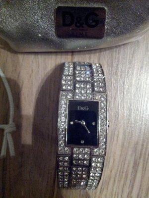 Dolce & Gabbana Orologio con cinturino di metallo argento-talpa