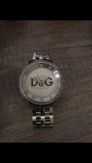 Dolce & Gabbana Orologio con cinturino di metallo argento-blu