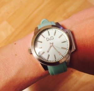 Dolce & Gabbana Analog Watch silver-colored-turquoise stainless steel