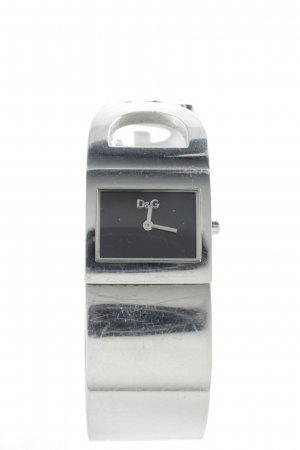 Dolce & Gabbana Horloge met metalen riempje zwart-zilver elegant